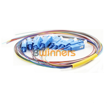 BWINNERS 12 cores Single Mode SC/UPC Fiber Optic Bunched Pigtail/ Patchcord Jumper Cable Pigtail