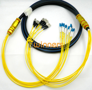 BWINNERS Outdoor 8 Core Single-mode FC/UPC - LC/UPC Waterproof Optical Cable Patch Cord/ Patchcord Jumper Cable Pigtail
